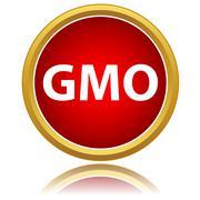 No gmo sign icon Stock Illustration