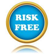 Risk-free guarantee icon Stock Illustration