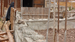 Background of the construction site Stock Footage