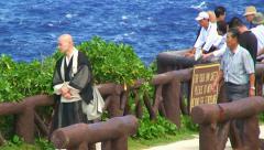 Japanese at Banzai Cliff. Saipan. Stock Footage
