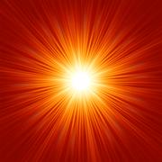 Star burst red and yellow fire. EPS 8 - stock illustration