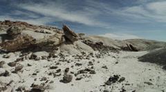 Panning shot of desert at San Raphel Swell / San Raphel Swell, Utah, United - stock footage