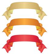 Banners ribbons, set Stock Illustration
