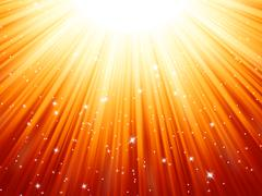 Sunburst rays of sunlight tenplate. EPS 8 - stock illustration