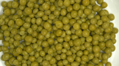 4K Green Peas Cooked On Plate Vegetable Stock Footage