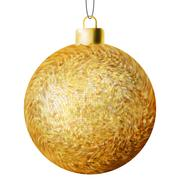 Christmas ball on a white background. EPS 8 - stock illustration