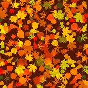 Autumn leaves, bright background. EPS 8 Stock Illustration