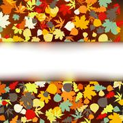 Colorful autumnal design template. EPS 8 Stock Illustration