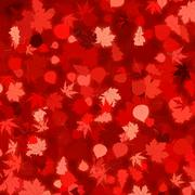 Red autumn background with leaves. EPS 8 Stock Illustration