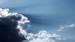 Dramatic sky with clouds and sun rays. Full HD video footage 1080p Stock Footage