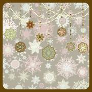 Stock Illustration of Retro Christmas Ornaments. EPS 8