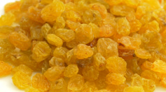 4K Dry Yellow Raisins Stock Footage