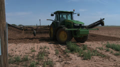 Tractor with 'scratcher' 5 Stock Footage