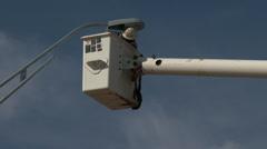 Technician replaces street light 4 Stock Footage