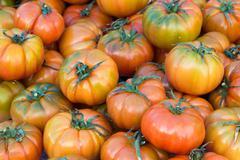 Pachino tomatos on a market - stock photo