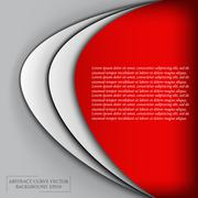 3d abstract curve overlap on red background used for web design.eps 10 format Stock Illustration