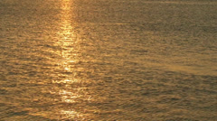 Sea Golden Sunset. Sun set over the horizon. Stock Footage