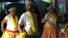 Chamorro Female Native Traditional Dance. Saipan. Stock Footage