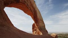 Lockdown shot of Wilson Arch / Wilson Arch, Utah, United States Stock Footage