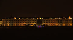 The Hermitage in St. Petersburg. White night. 4K. Stock Footage