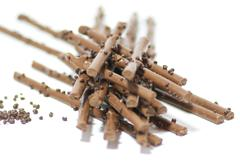 Chocolate sticks with chocolate granule Stock Photos