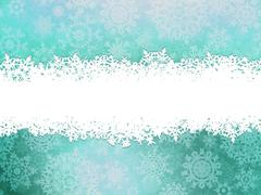Stock Illustration of Winter background with snowflakes. EPS 10
