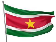 Stock Photo of Suriname National Flag