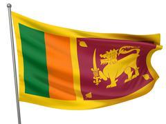 Stock Photo of Sri Lanka National Flag