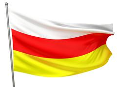 South Ossetia National Flag - stock photo