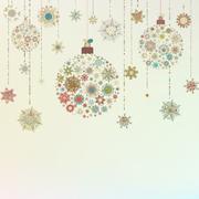Stylized Christmas Balls, On beige. EPS 8 Stock Illustration
