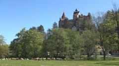 Bran Castle, Mystic, Halloween, Medieval, Dracula castle, Brasov, Transylvania. - stock footage