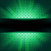 Stock Illustration of Sphere with green illumination. EPS 8