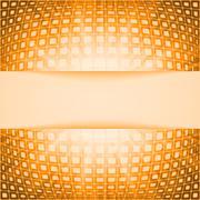Technology squares with orange flare burst. EPS 8 - stock illustration
