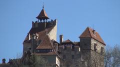 Bran Castle, Mystic, Halloween, Medieval, Dracula castle, Brasov, Transylvania. Stock Footage