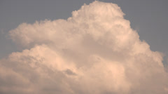 ULTRA HD 4K Amazing cloud formation blue sky summer day sunny season cumulus ray Stock Footage