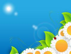 Stock Illustration of floral environmental vector frame