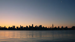 New York Skyline at Sunrise Arkistovideo