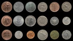 Stock Photo of Ancient European coins