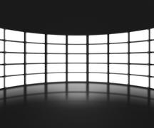 Black tv show stage backdrop Piirros