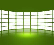 green tv show stage backdrop - stock illustration