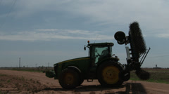 Tractor with scratcher 6 Stock Footage
