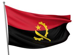 Angola National Flag - stock photo