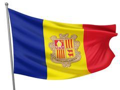 Stock Photo of Andorra National Flag
