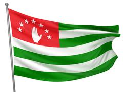 Abkhazia National Flag - stock photo