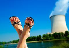 nuclear environmental issues - stock photo