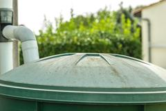 green rainwater recuperator - stock photo