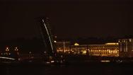 Stock Video Footage of Divorced Troitsky bridge. Saint-Petersburg. 4K.