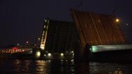 Stock Video Footage of Divorced Tuchkov bridge. Saint-Petersburg. 4K.