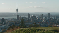 Auckland city viewed from Mount Eden Stock Footage