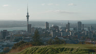 Stock Video Footage of Auckland city viewed from Mount Eden